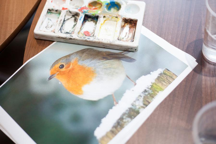 Watercolour Painting at Gainsborough House 2015
