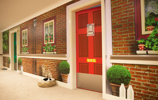 Whittle Hall Dementia Plus corridor
