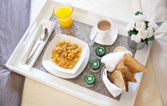 Whittle Hall Breakfast in bed