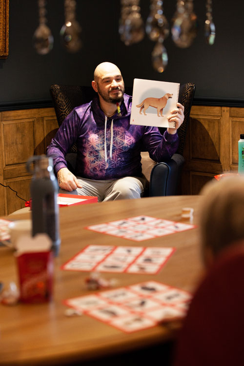 Whittle Hall play Animal Bingo