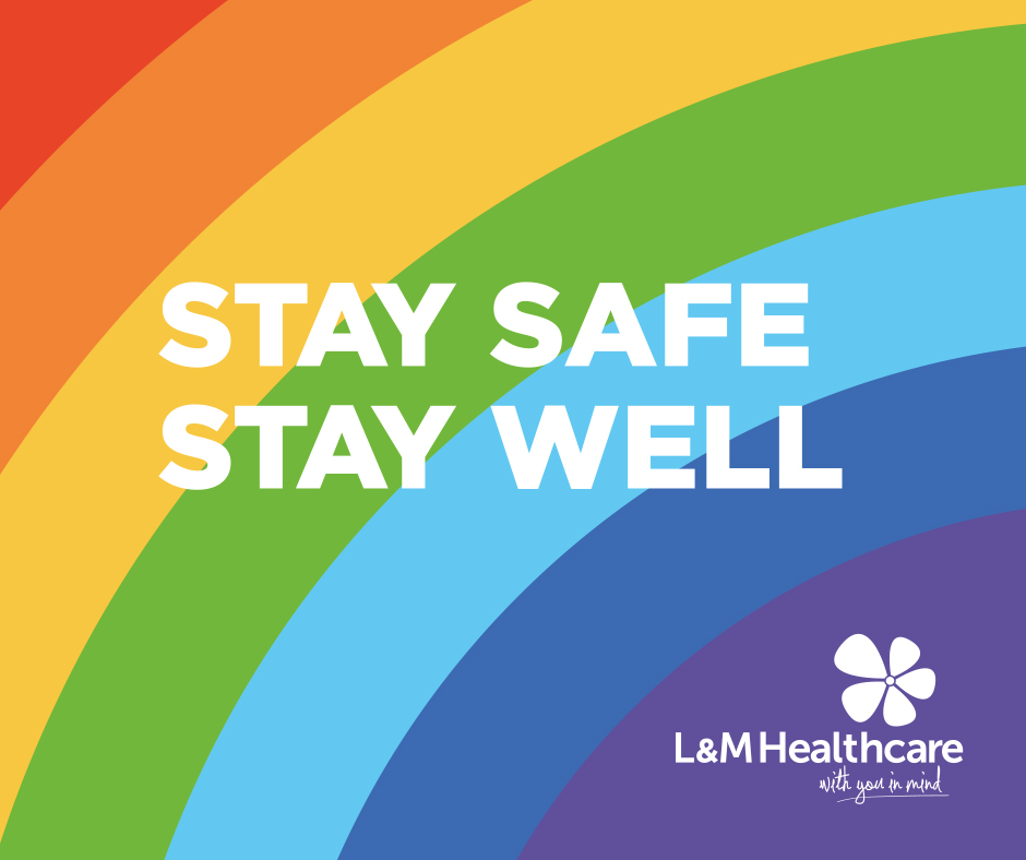 Stay safe. Stay well graphic