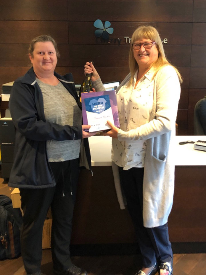 Joanne Bowers is June's Hero of the Month at Cherry Tree House