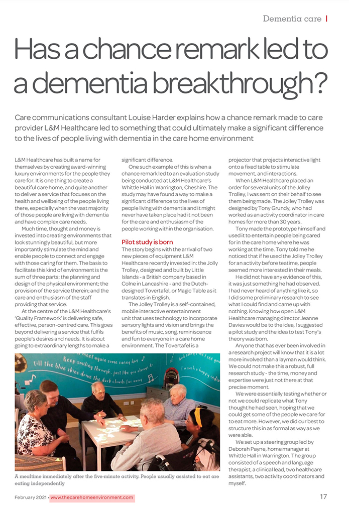 TCHE magazine Article