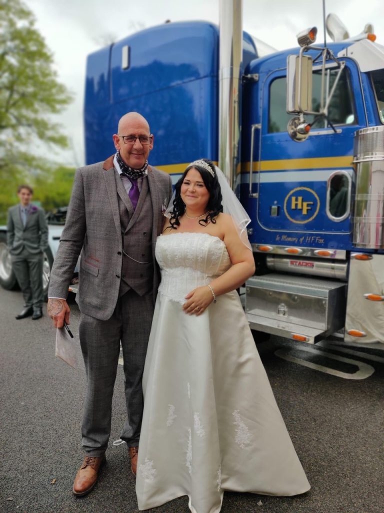 Picture of bride and groom