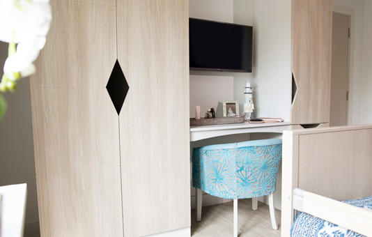 Kitwood House bedrooms with Tv